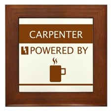 Carpenter Powered by Coffee Framed Tile