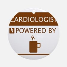 Cardiologist Powered by Coffee Ornament (Round)