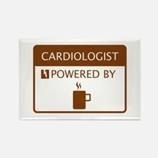 Cardiologist Powered by Coffee Rectangle Magnet