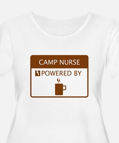 Camp Nurse Powered by Coffee T-Shirt