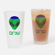 Shalom Alien Drinking Glass