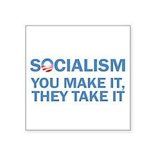 "Socialism Square Sticker 3"" x 3"""