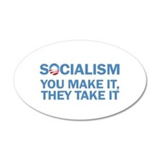 Socialism 20x12 Oval Wall Decal