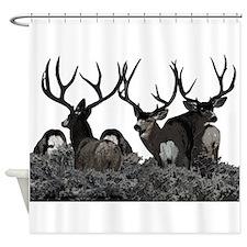 Monster buck deer Shower Curtain