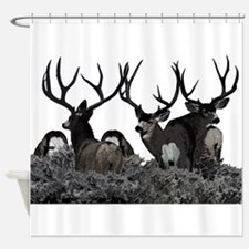 Monster buck deer Shower Curtain