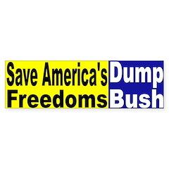 Save America's Freedoms Bumper Bumper Sticker
