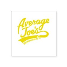 "AJ's Yellow Square Sticker 3"" x 3"""