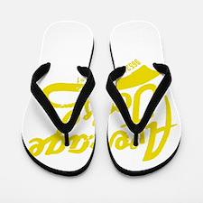 AJ's Yellow Flip Flops