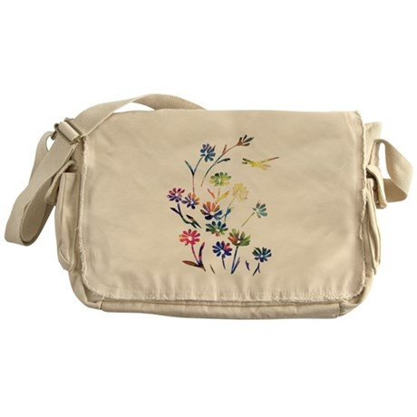 Daisy Dragonfly Cosmos Messenger Bag