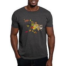Siamese Cat Fall Leaves T-Shirt