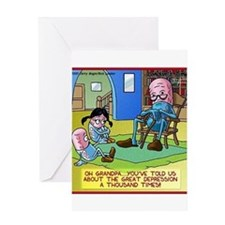 Grandpa Prozac The Great Depression Greeting Card