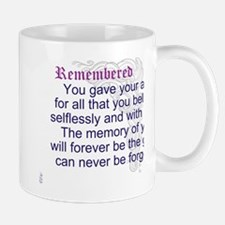 TheEulogyWeb: Remembered design #9 Mug