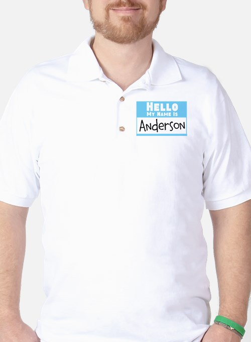 Personalized Name Tag Golf Shirt