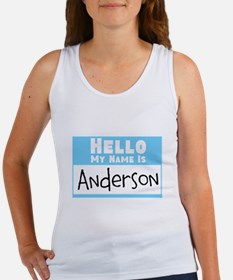 Personalized Name Tag Women's Tank Top