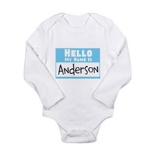 Personalized Name Tag Long Sleeve Infant Bodysuit