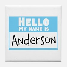 Personalized Name Tag Tile Coaster