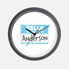 Personalized Name Tag Wall Clock