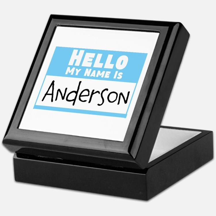 Personalized Name Tag Keepsake Box