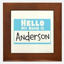 Personalized Name Tag Framed Tile
