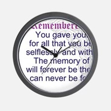 TheEulogyWeb: Remembered design #9 Wall Clock