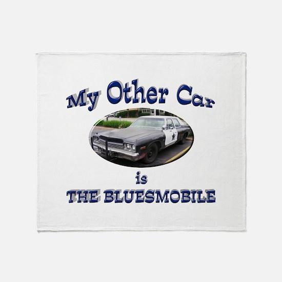 Bluesmobile Throw Blanket
