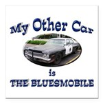 Bluesmobile Square Car Magnet 3