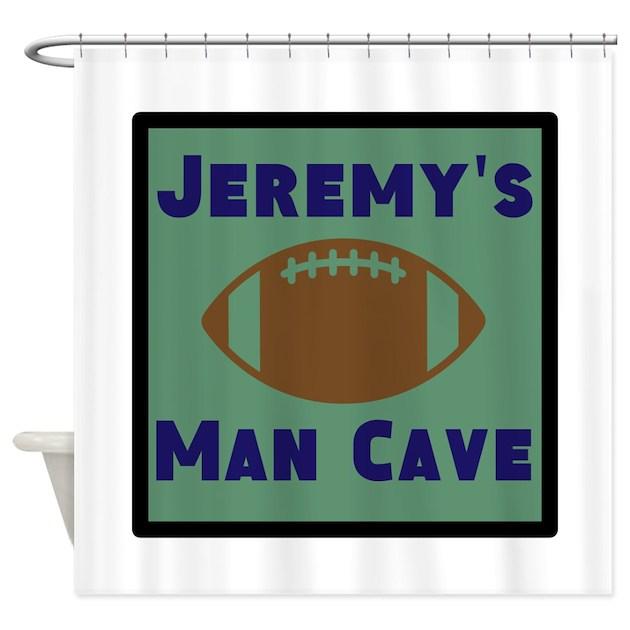 Personalised Man Cave Signs Australia : Personalized man cave shower curtain by personalizedgifts