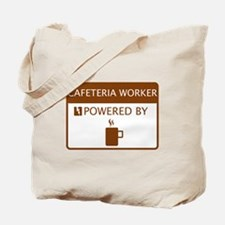 Cafeteria Worker Powered by Coffee Tote Bag