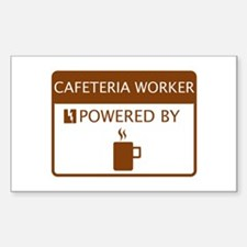 Cafeteria Worker Powered by Coffee Decal