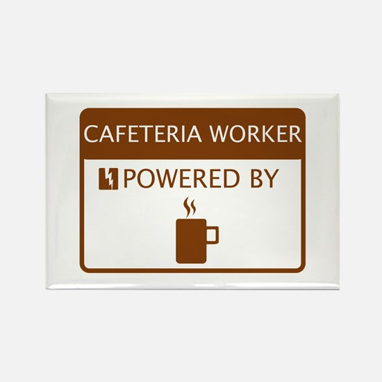 Cafeteria Worker Powered by Coffee Rectangle Magne