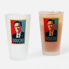 Mitt Romney Douche Drinking Glass
