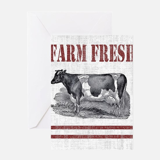 Country Chic Cow Farmhouse Greeting Cards
