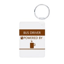 Bus Driver Powered by Coffee Keychains