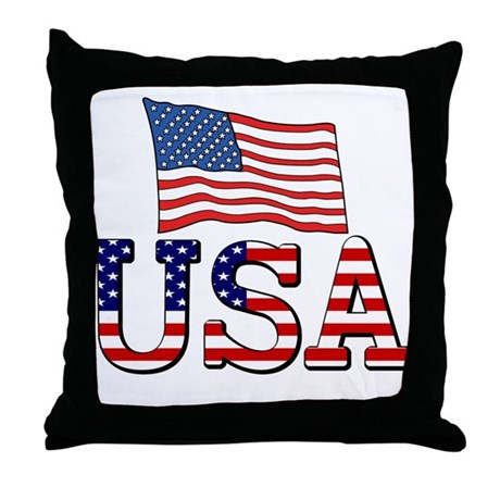 Team USA Throw Pillow