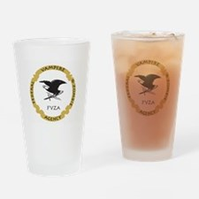 Federal Vampire and Zombie Agency logo Drinking Gl