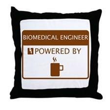 Biomedical Engineer Powered by Coffee Throw Pillow