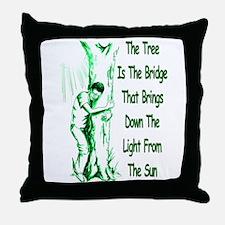 Tree Bridge Throw Pillow