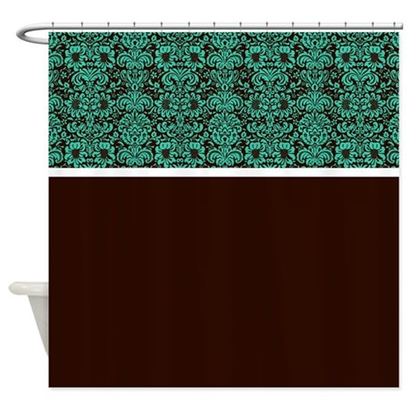 Blue Green And Brown Shower Curtain By Alondrascreations