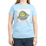 Space Alien Penguin Women's Pink T-Shirt