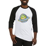 Space Alien Penguin Baseball Jersey