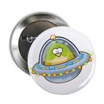 Space Alien Penguin Button