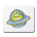 Space Alien Penguin Mousepad