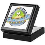 Space Alien Penguin Keepsake Box