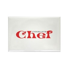 Undercover Chef Rectangle Magnet