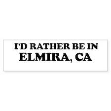 Rather: ELMIRA Bumper Bumper Sticker
