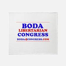 BODAback.jpg Throw Blanket