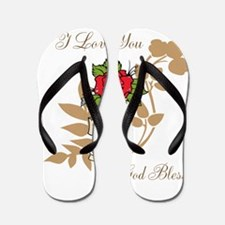 TheEulogyWeb: I Love You design #11 Flip Flops