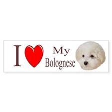 I Love My Bolognese 2 Car Sticker