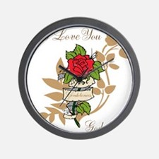 TheEulogyWeb: I Love You design #11 Wall Clock