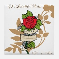 TheEulogyWeb: I Love You design #11 Tile Coaster